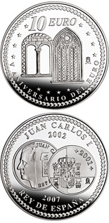 10 euro 5th Anniversary of the Euro – Liberalism - 2007 - Series: Silver 10 euro coins - Spain