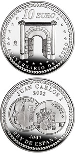 10 euro 5th Anniversary of the Euro – Cooperation - 2007 - Series: Silver 10 euro coins - Spain