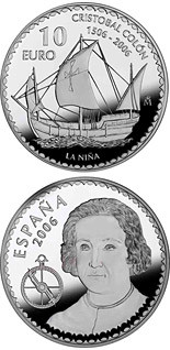10 euro coin Christopher Columbus 5th Centenary - La Niña | Spain 2006