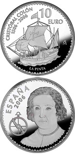 10 euro Christopher Columbus 5th Centenary - La Pinta - 2006 - Series: Silver 10 euro coins - Spain