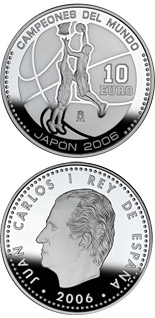 10 euro World Basketball Champions - Japan 2006 - 2006 - Series: Silver 10 euro coins - Spain