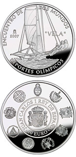 10 euro VII Iberian-American Series: Olympic sports - 2008 - Series: Silver 10 euro coins - Spain