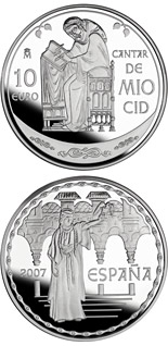 10 euro coin The Song of My Cid | Spain 2007