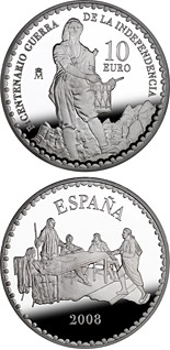 10 euro Bicentenary War of Independence - Edict of the Mayors of Móstoles  - 2008 - Series: Silver 10 euro coins - Spain