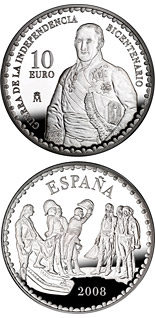 10 euro Bicentenary War of Independence - The Surrender of Bailén by Alisal  - 2008 - Series: Silver 10 euro coins - Spain