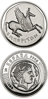 10 euro 1st Series Numismatic Treasures - Hispano-Greek drachma - 2008 - Series: Silver 10 euro coins - Spain