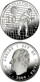 10 euro 2010 FIFA World Cup South Africa - 2009 - Series: Silver 10 euro coins - Spain