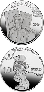 10 euro 2nd Series Spanish Painters – Dalí - Automatic Beginning of a Portrait of Gala - 2009 - Series: Silver 10 euro coins - Spain