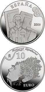 10 euro 2nd Series Spanish Painters – Dalí - Portrait of Pablo Picasso in the 21st Century - 2009 - Series: Silver 10 euro coins - Spain