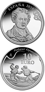 10 euro coin 3rd Series Spanish Painters – Goya - Duel with Cudgels | Spain 2010