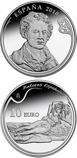10 euro 3rd Series Spanish Painters – Goya - The Clothed Maja - 2010 - Series: Silver 10 euro coins - Spain