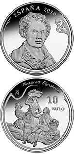 10 euro 3rd Series Spanish Painters – Goya - The Grape Harvest or Autumn - 2010 - Series: Silver 10 euro coins - Spain