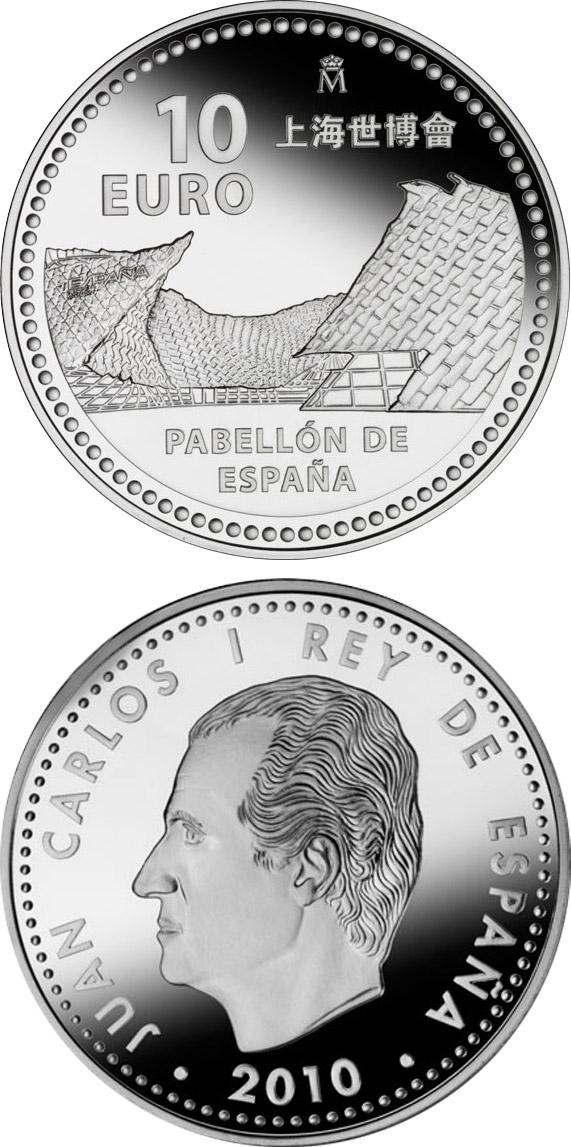 Image of Expo Shanghái – 10 euro coin Spain 2010.  The Silver coin is of Proof quality.