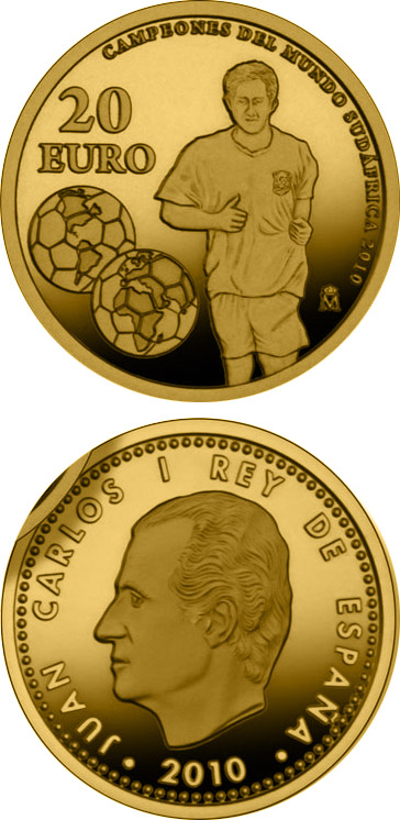 Gold 20 Euro Coins The 20 Euro Coin Series From Spain