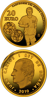 20 euro World Champions in South Africa 2010 - 2010 - Series: Gold 20 euro coins - Spain