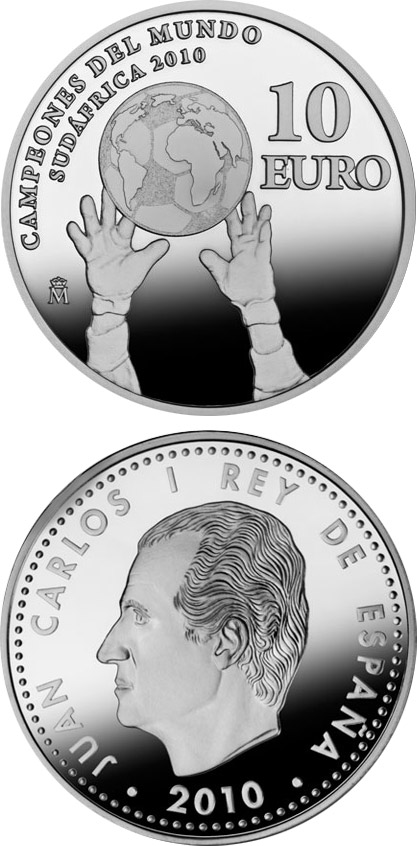 10 euro World Champions in South Africa 2010 - 2010 - Series: Silver 10 euro coins - Spain