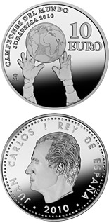 10 euro coin World Champions in South Africa 2010 | Spain 2010