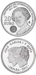 20 euro coin Centennial of International Women's day 1911-2011 | Spain 2011