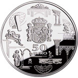 50 euro coin First anniversary of the euro | Spain 2003