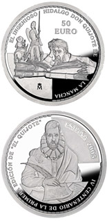 50 euro coin 4th Centenary of the publication of Don Quixote | Spain 2005