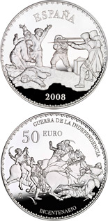 50 euro coin Bicentenary War of Independence | Spain 2008