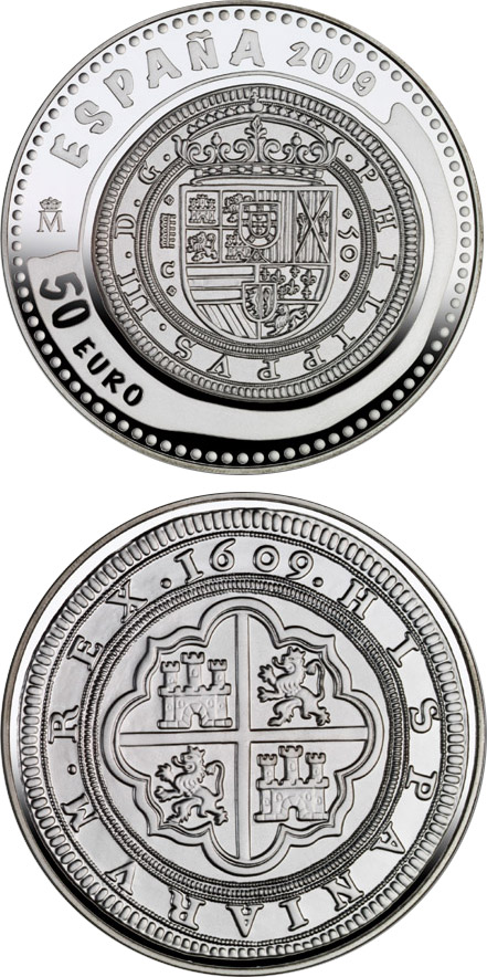Image of a coin 50 euro | Spain | 2nd Series Numismatic Treasures | 2009