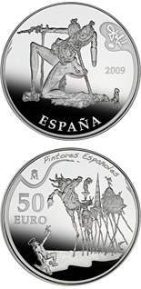 50 euro coin 2nd Series Spanish Painters - Dalí | Spain 2009