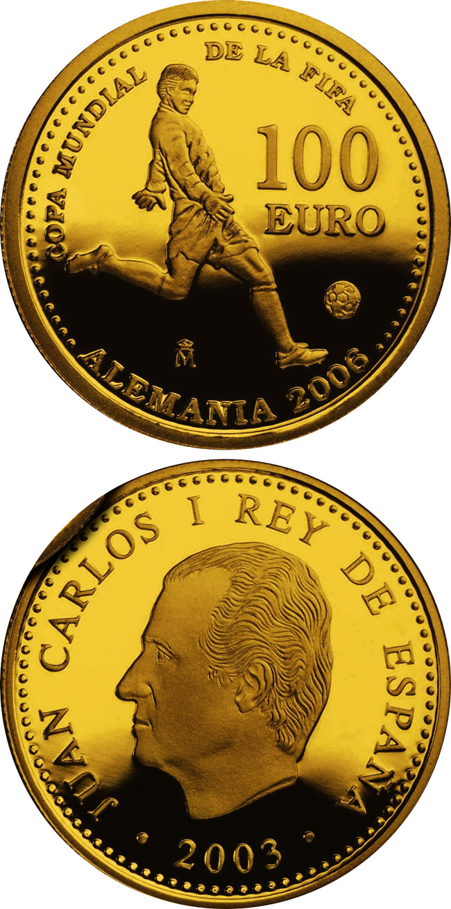 100 euro FIFA World Cup Germany 2006 - Issue 2003 - 2003 - Series: Gold 100 euro coins - Spain