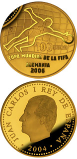 100 euro FIFA World Cup Germany 2006 – Issue 2004 - 2004 - Series: Gold 100 euro coins - Spain
