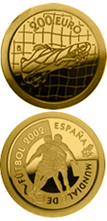 200 euro World Football Cup 2002 - 2002 - Series: Gold 200 euro coins - Spain