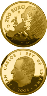 200 euro The Europa Program - Enlargement of the European Union - 2004 - Series: Gold 200 euro coins - Spain