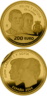 200 euro coin Wedding of the Prince of Asturias | Spain 2004