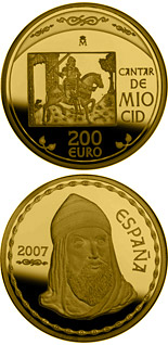 200 euro The Song of My Cid - 2007 - Series: Gold 200 euro coins - Spain