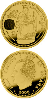 200 euro Europa Program-Alphonse X the Wise - 2008 - Series: Gold 200 euro coins - Spain