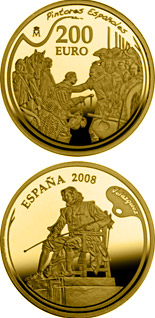 200 euro Spanish Painters Series - Velázquez - 2008 - Series: Gold 200 euro coins - Spain