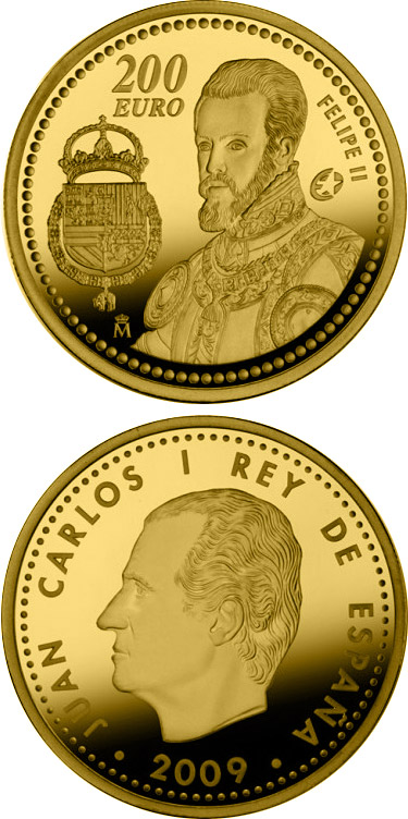 Image of a coin 200 euro | Spain | The Europa Program - Felipe II | 2009