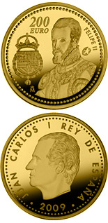 200 euro The Europa Program - Felipe II - 2009 - Series: Gold 200 euro coins - Spain