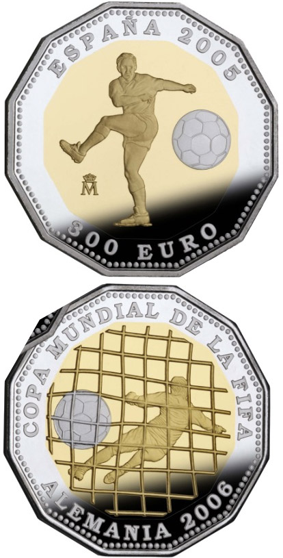 Image of 300 euro coin - 2006 FIFA World Cup Germany - 2005 Issue | Spain 2005