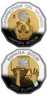 300 euro coin World Basketball Champions - Japan 2006 | Spain 2006