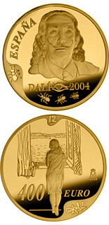 400 euro coin Centenary of the birth of Salvador Dalí | Spain 2004