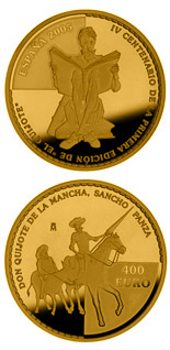400 euro coin 400th anniversary of the publication of Don Quixote | Spain 2005