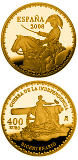400 euro coin Bicentenary War of Independence | Spain 2008