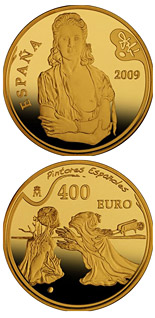 400 euro 2nd Series Spanish Painters - Dalí - 2009 - Series: Gold 400 euro coins - Spain