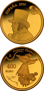 400 euro 3rd Series Spanish Painters - Goya - 2010 - Series: Gold 400 euro coins - Spain
