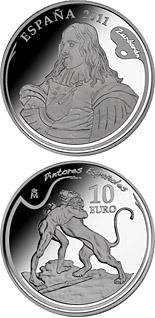 10 euro 4th Series Spanish Painters - Zurbarán - 2011 - Series: Silver 10 euro coins - Spain