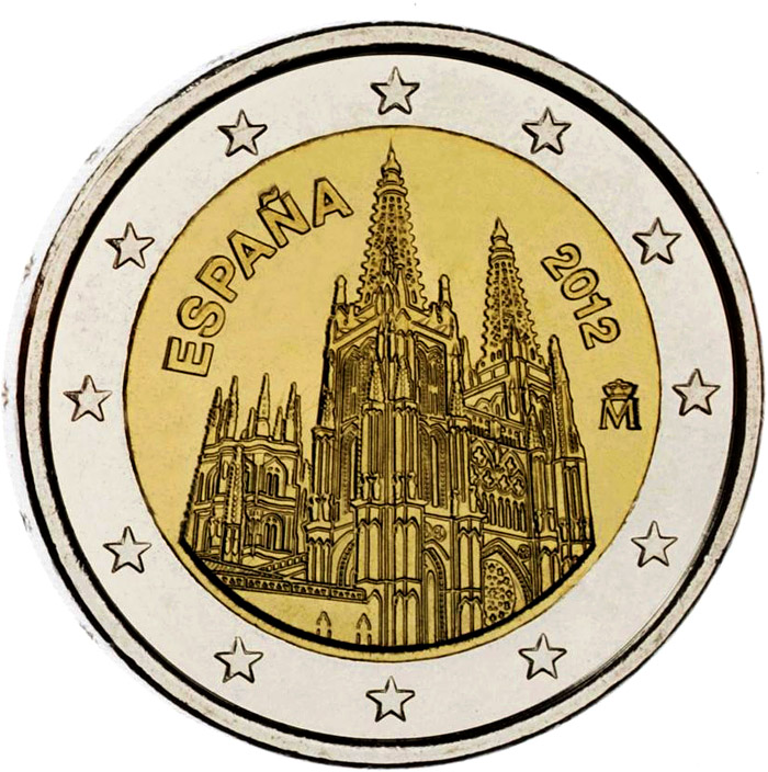Image of 2 euro coin – The Burgos Cathedral | Spain 2012