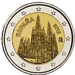 2 euro coin The Burgos Cathedral | Spain 2012