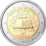 2 euro coin 50th Anniversary of the Treaty of Rome | Spain 2007