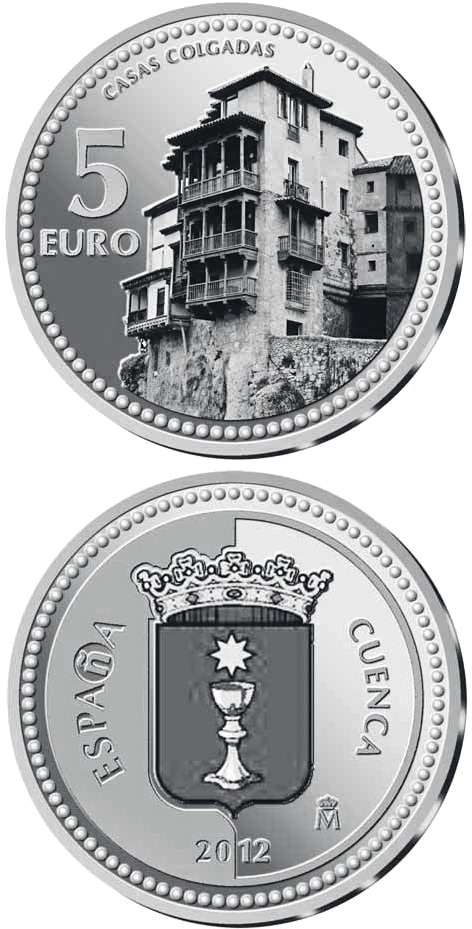 Image of 5 euro coin – Cuenca | Spain 2012.  The Silver coin is of Proof quality.
