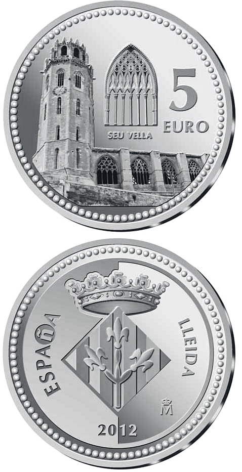 Image of a coin 5 euro | Spain | Lleida | 2012